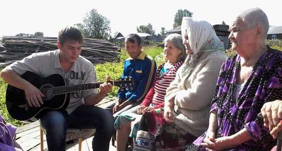Пермские музыканты регулярно выступают перед жителями