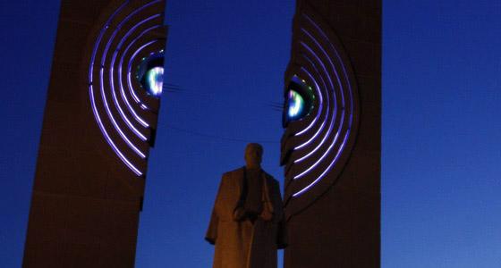 Памятник Курчатову в Челябинске, фото автора